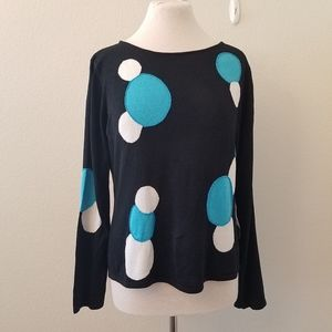 NWT Sharon Young Silk Blend Beaded Sweater